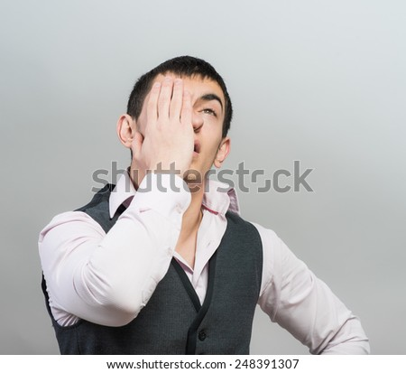 Stressed businessman  - stock photo