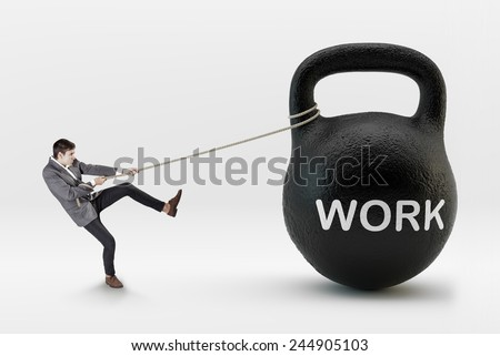 Stressed job concept - stock photo