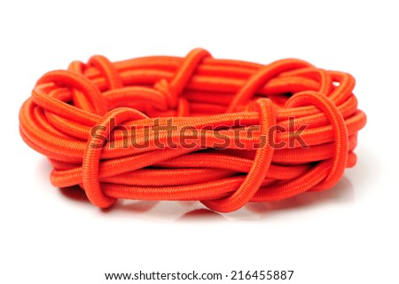 Stretch fabric or Elastic on white background - stock photo