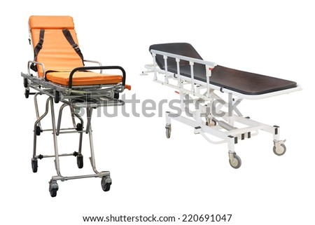 stretcher under the white background - stock photo