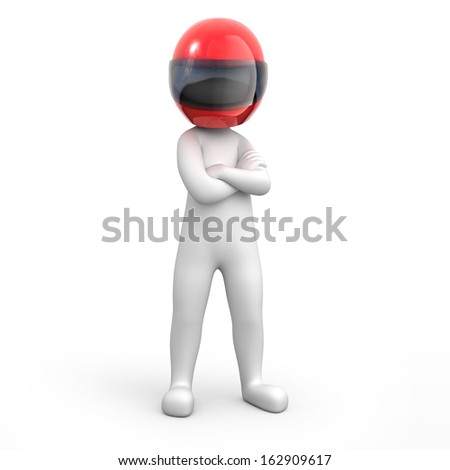 strict racer - stock photo