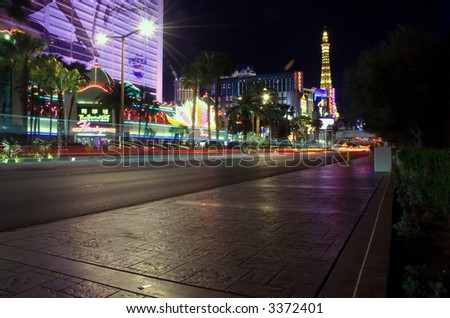 Strip at Night - stock photo