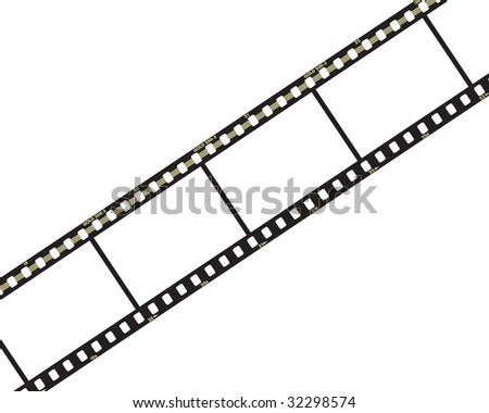 Strip film isolated on white - stock photo