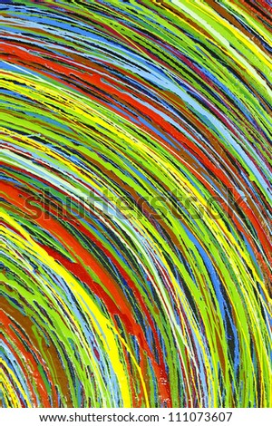 Stripe pattern paint oil colors on canvas - stock photo