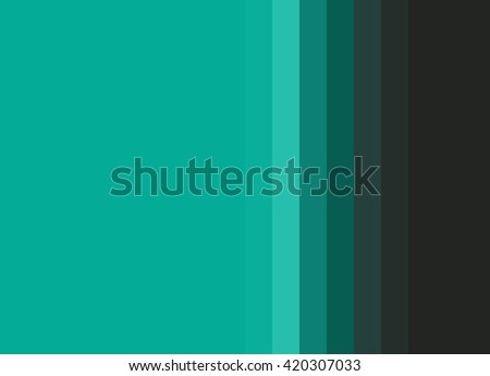 Striped Background in bright jade greens to black gradation, vertical stripes, color palette - stock photo