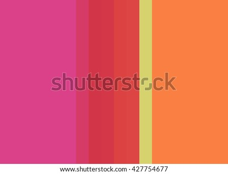 Striped Background in bright pink/red/orange/green, vertical stripes, color palette background - stock photo