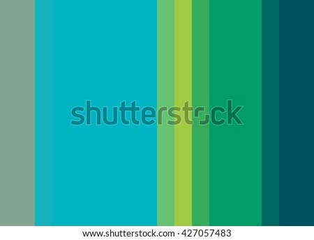 Striped Background in bright turquoise blue/gold/green/teal/sage green, vertical stripes, color palette background  - stock photo