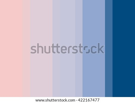 Striped Background in pale pink to bright blue gradient, vertical stripes, color palette - stock photo