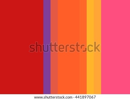 Striped background in vibrant red/orange/pink/gold with violet accent, vertical stripes, color palette background  - stock photo