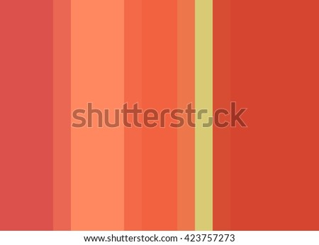 Striped Background in vivid orange/peach/coral/pale green, vertical stripes, color palette - stock photo