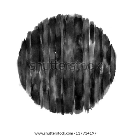Striped Circle (Hand Painted) - stock photo