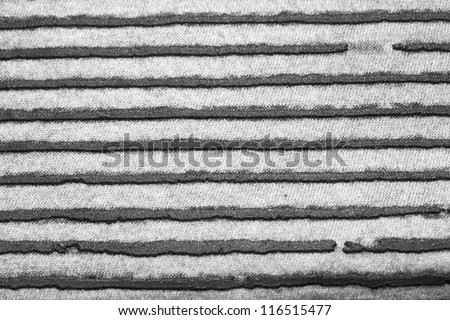 Striped fabric background - stock photo