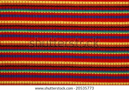 Striped knitted material - stock photo