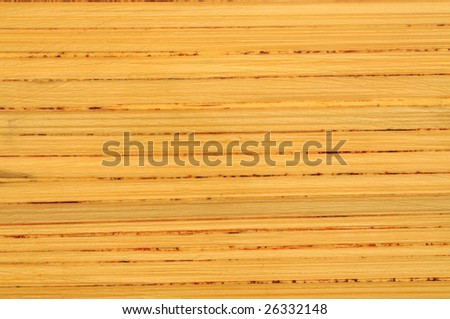 striped pressed bamboo board background - stock photo