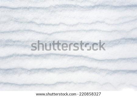 striped snow as background - stock photo