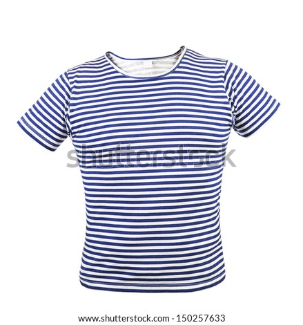 Striped vest T-shirt. Front. - stock photo