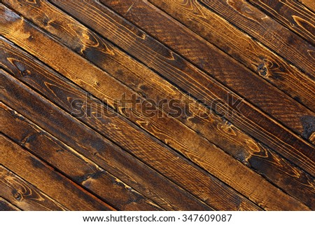 Striped wooden background - stock photo