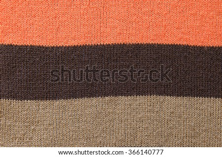 Striped woolen scarf background texture close up - stock photo