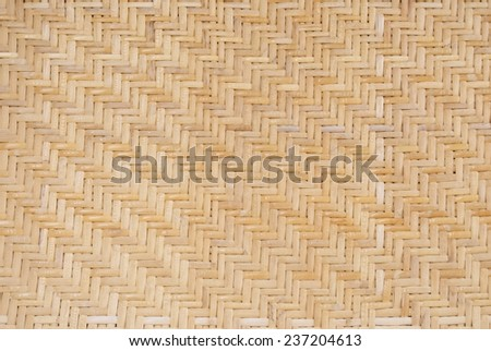 Strips of Wood Woven in a Herring Bone Pattern - stock photo
