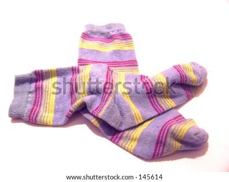 stripy socks - stock photo
