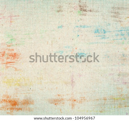 Strokes paper texture with color spots - stock photo