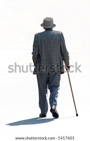 Strolling senior - stock photo