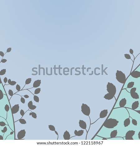 strong graphic art design  in grey blue for wedding or party invitation template - stock photo