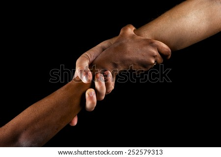 strong grip - stock photo