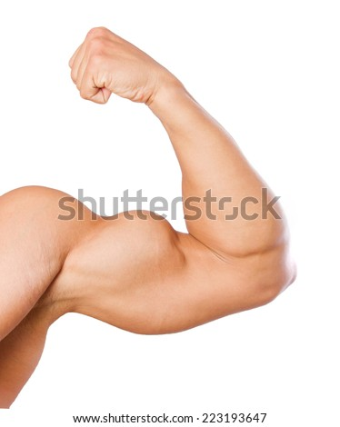 strong man arm - stock photo