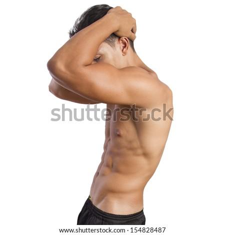 strong man posing - stock photo