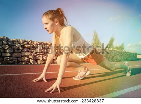 Strong runner  - stock photo
