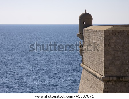 stronghold of old town Dubrovnik, Croatia - stock photo