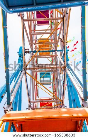 structure of ferris wheel - stock photo