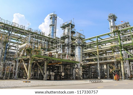 Structure of Oil and chemical factory - stock photo