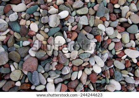 structure of sea color pebble for design - stock photo