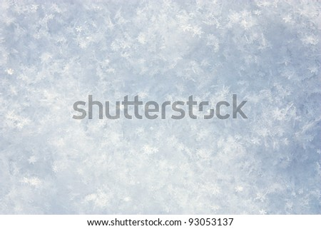 Structure of snow surface (background) - stock photo