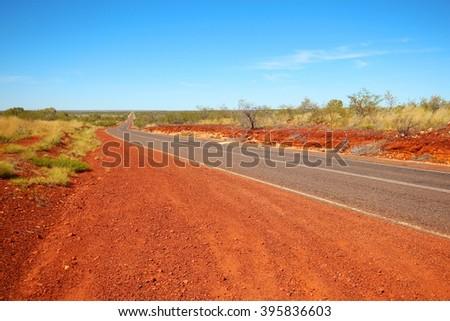 Stuart Highway, Australia - stock photo
