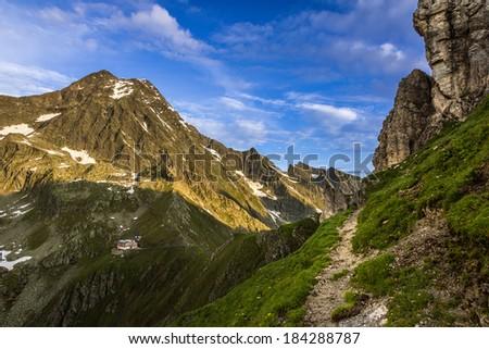 Stubai Alps panorama - stock photo