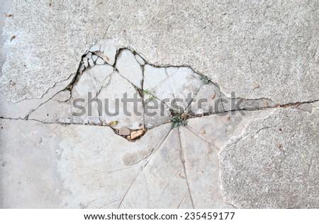 Stucco floor with cracks - stock photo