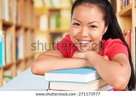 Student, Asian Ethnicity, University. - stock photo