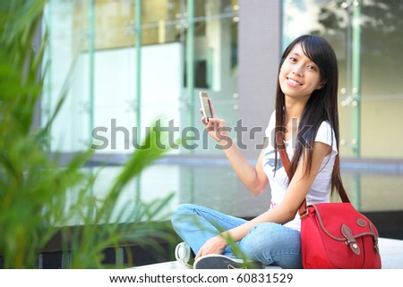 student at campus - stock photo
