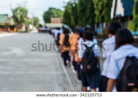 student back to home - stock photo