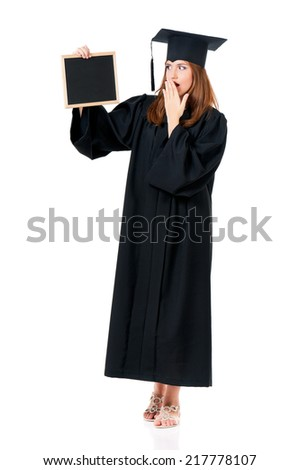 Student girl - stock photo
