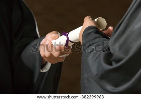 Student graduation ceremony - stock photo