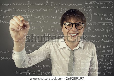 student holding pen - stock photo