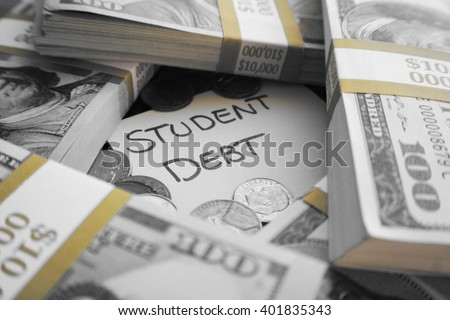 Student Loan Debt Stock Photo - stock photo