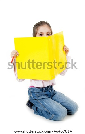 student looking - stock photo