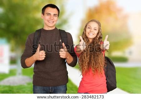 Student, Teenager, Education. - stock photo