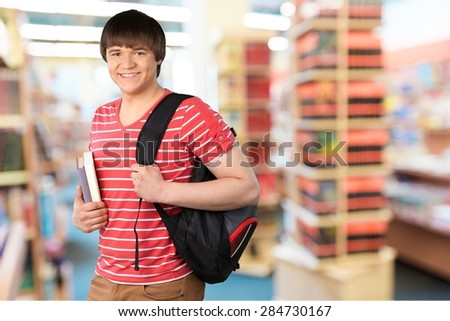 Student, Teenager, Isolated. - stock photo