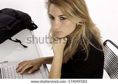 Student Writers Block - stock photo